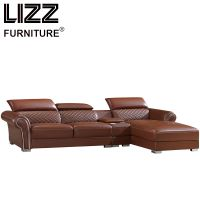 New Design Modern Living Room Leather Sofa Set