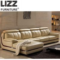 Modern L-Shape Leather Sectional Sofa
