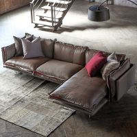 Modern Living Room Furniture Fabric Sofa with Feather