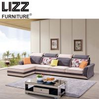 Modern Living Room Fabric Corner Sofa Furniture