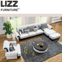 Living Room Furniture Modern Home Leather Sofa Set