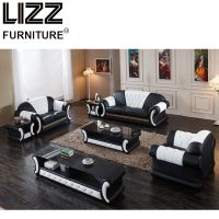 Leisure Home Furniture Genuine Leather Sectional Sofa