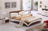 Modern Genuine Leather  Bed