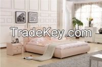 Genuine Leather Bed Lizz Furniture