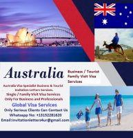 Australia Business and Tourist Visa Invitation Letters Services