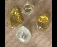 Rough uncut Diamond, Gold bar, gold dust, diamonds, sawable, gemstone, sapphire, jewelry, time pieces, blue, Emerald