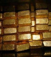 Gold bars  gold dust