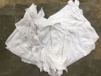 White stitched wiping rags
