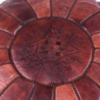 Footstool poufs Stuffed Brown Moroccan foot rest ottoman Leather Pouf Ottoman