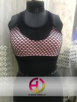 Netted Sports Bra Organic Breathable Cotton