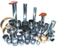 Steel bushing and bearing construction equipment component