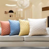 YoyoKMC Triangular Pattern Solid Polyester Decorative Pillow Cover/Sham for Sofa/Bed