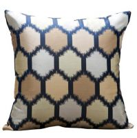 YoyoKMC Cell Pattern Solid Polyester Decorative Pillow Cover/Sham for Sofa/Bed