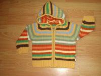 100% Acrylic stripe sweater with hood