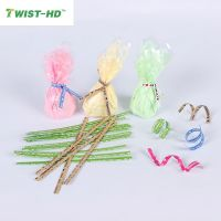 10cm esp for u cartoon printed spool kraft paper twist ties for bread/candy/lollipop bags