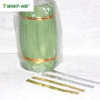 Double wire paper twist tie/ clip band/ bag closures