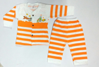 Button Round Neck Kids Top And Pant