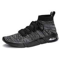 good quality lycra fabric upper material breathable men sneakers air shoes