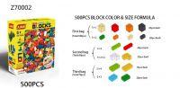 500 Pcs free building Plastic blocks