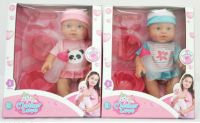 30CM BABY DOLL WITH DRINK and PEE WITH 5PCS ACCESSORIES (2 COLORS) W38825-2