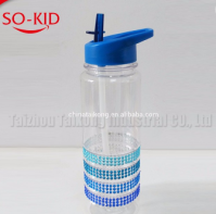 revolving lid easy to drink water bottle