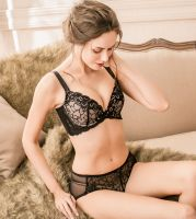 Soft wire lace bra set
