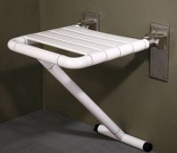 Lift-Up Shower Seat With Floor Support