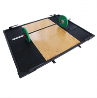 Rubber Wooden Weightlifting Platform For Sale