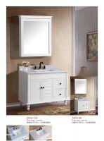 PVC 60cm, 80 cm soft close type bathroom vanity with 1 door 2 drawers