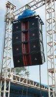 Pro outdoor stage Line array speaker dual 15''