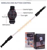 Bicycle Signal Belt, Bicycle Indicator Turn Signal LED Light with Wireless Remote Control