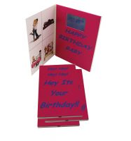 2.8 inch mini Folded Video Screen Happy Birthday Greeting Cards/Video Invitation Brochure