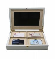 Invitation Box With Mirrored Acrylic With LCD Screen Video Gift Box