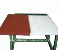 Cutting board made by PP , polypropylene for shearing machine used in footwear industry