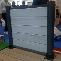 Rot proof wood plastic composite fence used panel with post