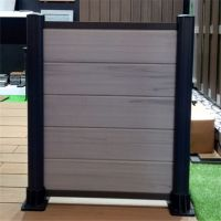 Wind proof cheap wpc fence with bamboo panels and metal post
