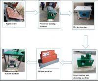 Complete Waste Paper Pencil Making Machine Pencil Production Line