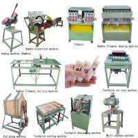 Bamboo Product Manufacturing Equipment Cutting Splitting Polishing Bbq Skewers Stick Processing Machine Price
