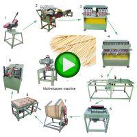 Wood Round Stick Toothpick Sharpening Machine