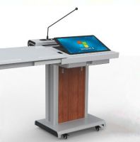 Electric podium with gooseneck microphone,