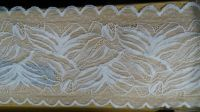 white wide 12 cm nylon lace trim with can dye