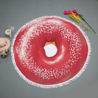 Donut Pizza Printed Round bath towel