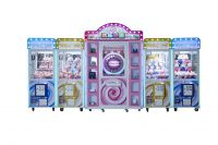High quality hot sale four in one happy doll claw crane machine for sale