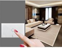 US Standard Wall Touch Switch White Crystal Glass Panel 1 gang 1 way 110~250V Wireless Remote LED Light LED Touch Switch,home electronic touch switch