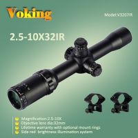 tactical rifle scope 2.5-10X32 IR magnifier scope with your own APP