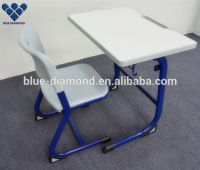 School single desk with chair for student