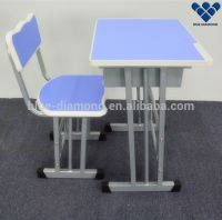 Modern single used school chair and desk