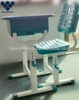 Comfortable plastic children desk and chair