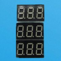 7-segment LED display, 3-digit common anode 10mm digital height red LED display