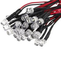 round head, flat head and straw hat 12V 20cm Pre wired 3mm dip led 5mm through hole LED